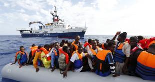 MOAS rescue 105 migrants in rubber dinghyPhoto: Darrin Zammit Lupi/MOAS