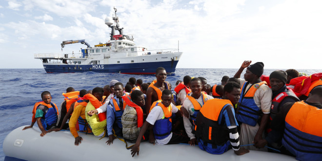 MOAS rescue 105 migrants in rubber dinghyPhoto: Darrin Zammit Lupi/MOAS